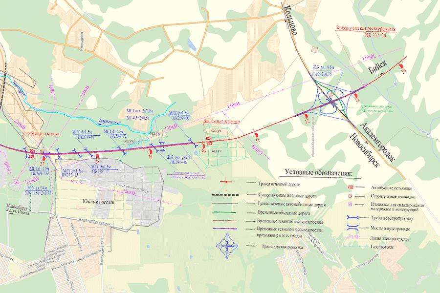 Подробная карта первого этапа